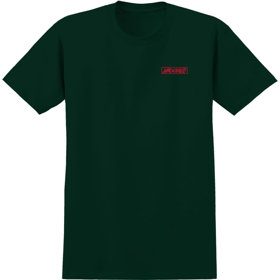 Krooked T-Shirt Moon Smile Forrest Green   T-Shirt by Krooked Skateboards 2