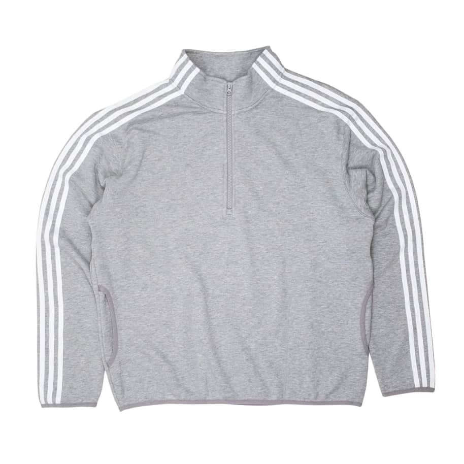 Adidas Terry Track Top Jacket - Grey/White | Track Jacket by adidas Skateboarding 1