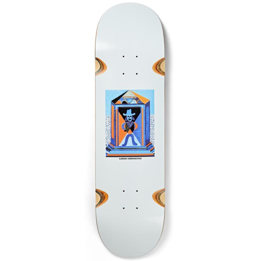 Polar Skate Co. Aaron Herrington Mausoleum Wheel Wells Skateboard Deck - 8.625"