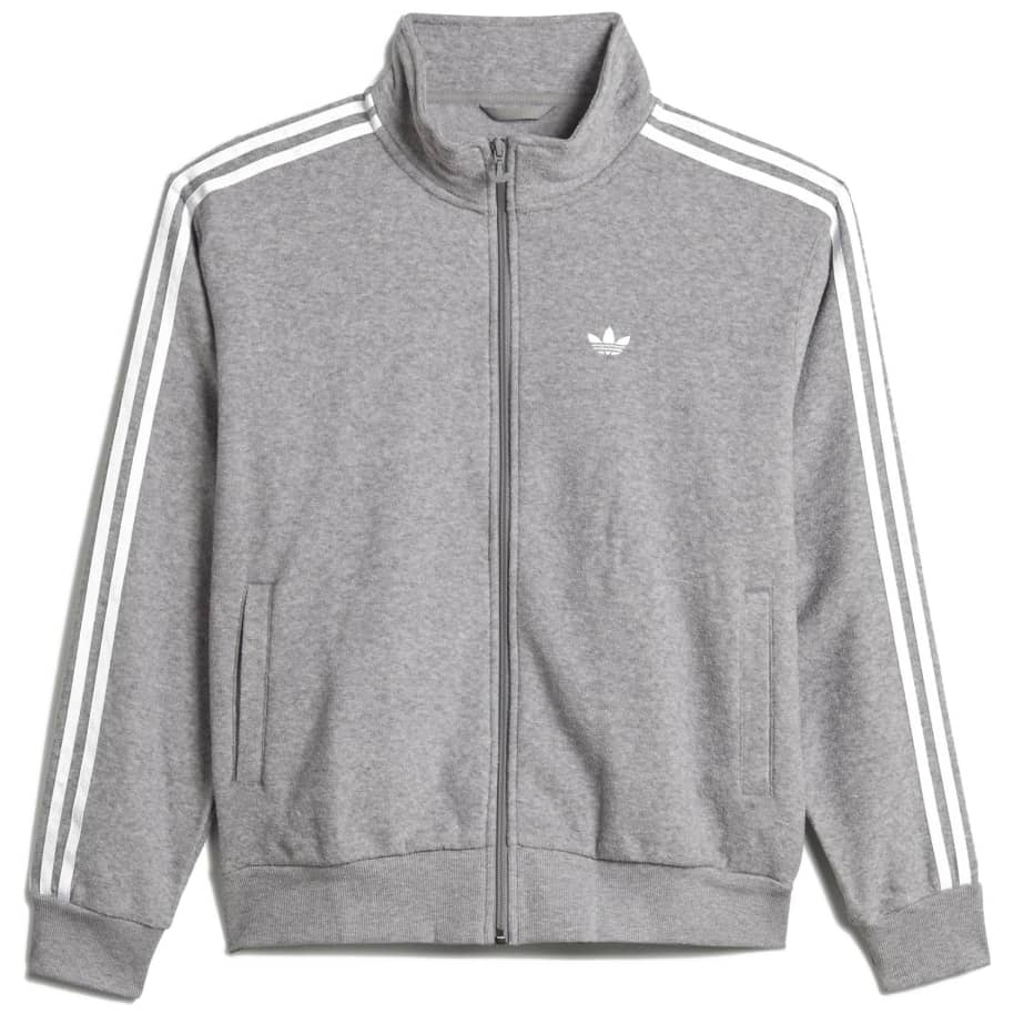 adidas Skateboarding Boucle Firebird Track Jacket - Medium Grey Heather / White | Track Jacket by adidas Skateboarding 1