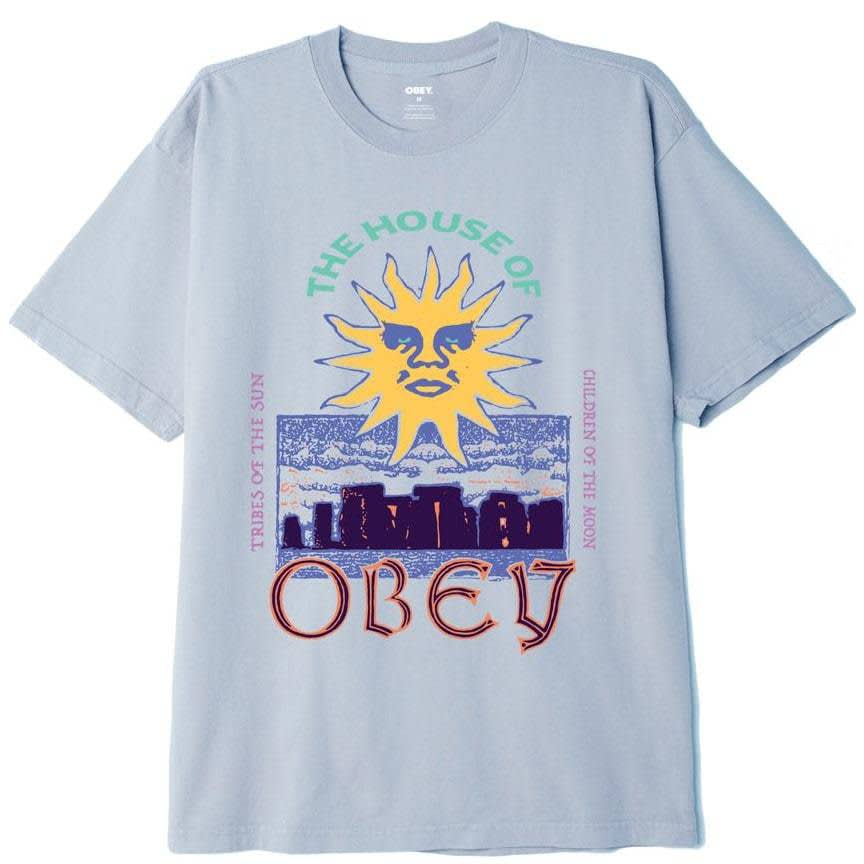 OBEY The House Of OBEY Organic T-Shirt - Good Grey | T-Shirt by OBEY Clothing 1