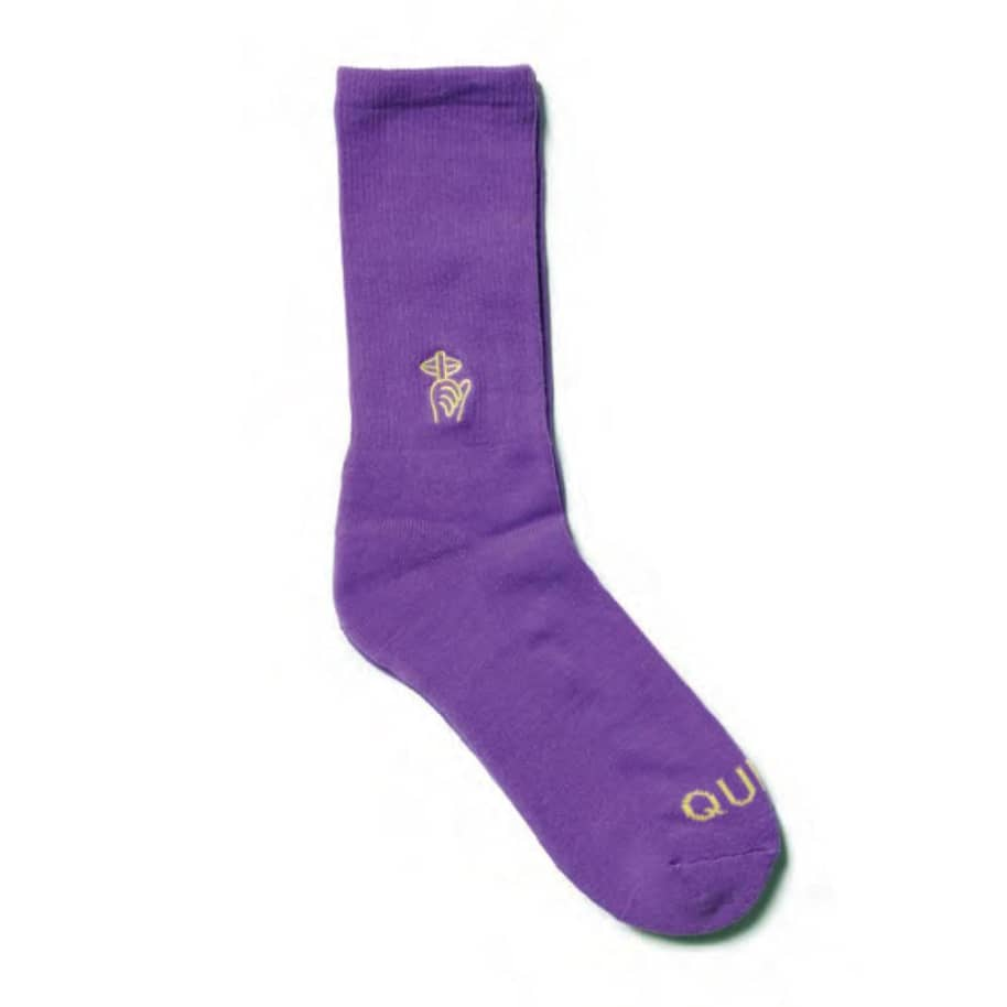 Quiet Life Shhh Sock Violet   Socks by The Quiet Life 1