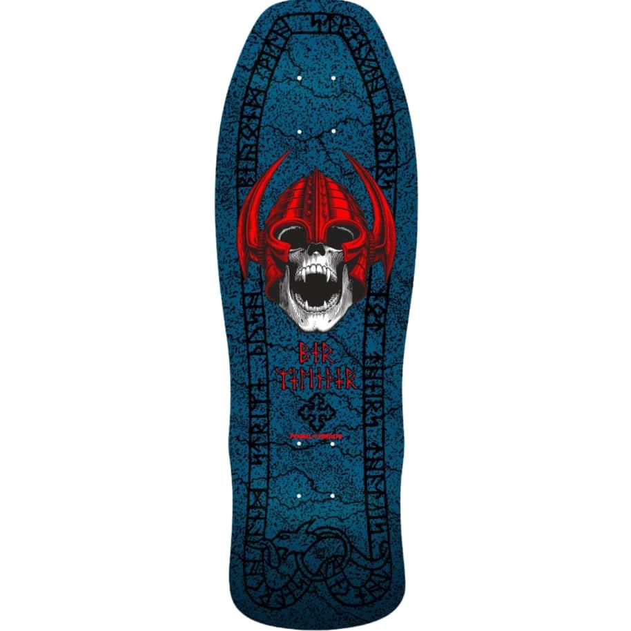 "Powell Peralta Welinder Nordic Skull Skateboard Deck Blue 9.625""   Deck by Powell Peralta 1"