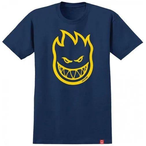 Spitfire Bighead T-Shirt (Navy/Yellow) | T-Shirt by Spitfire Wheels 1