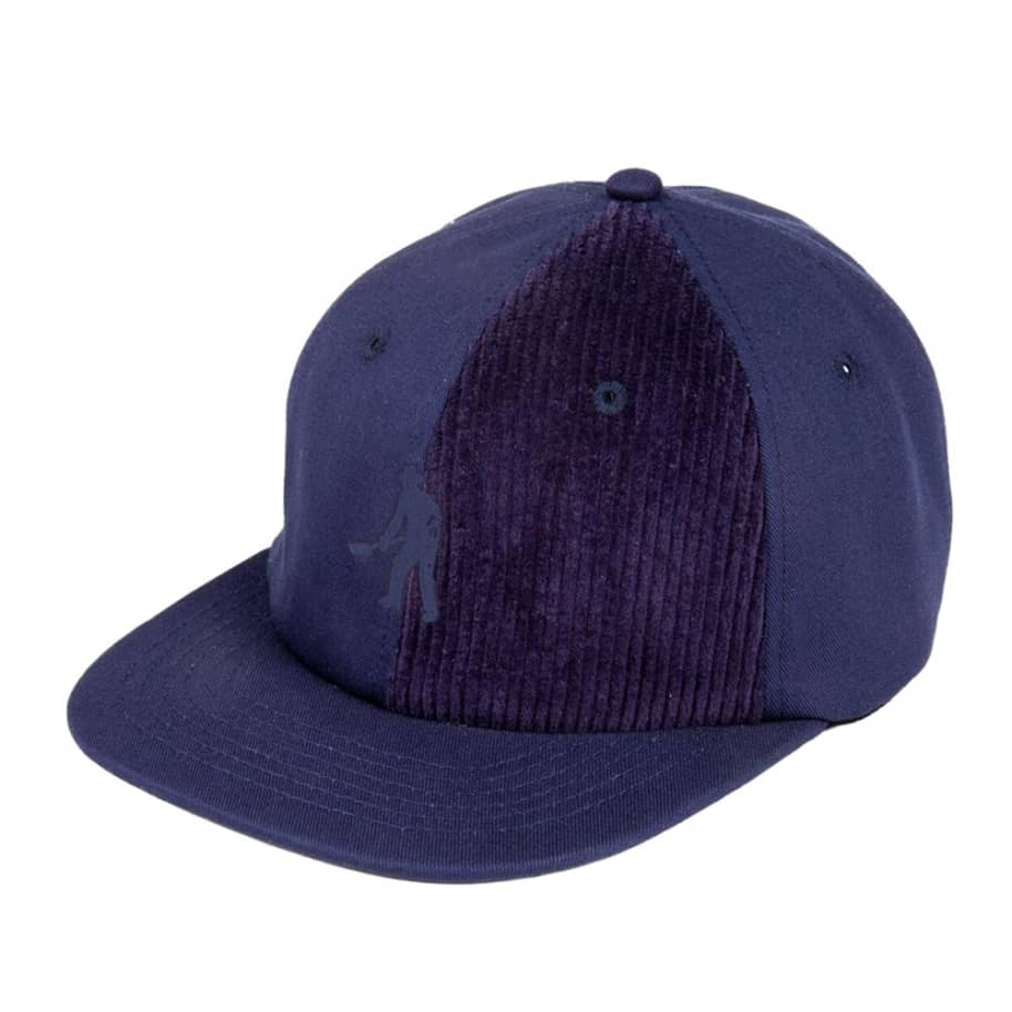 Pass~Port Cord Patch 6 Panel Cap - Navy | Baseball Cap by Pass~Port Skateboards 1