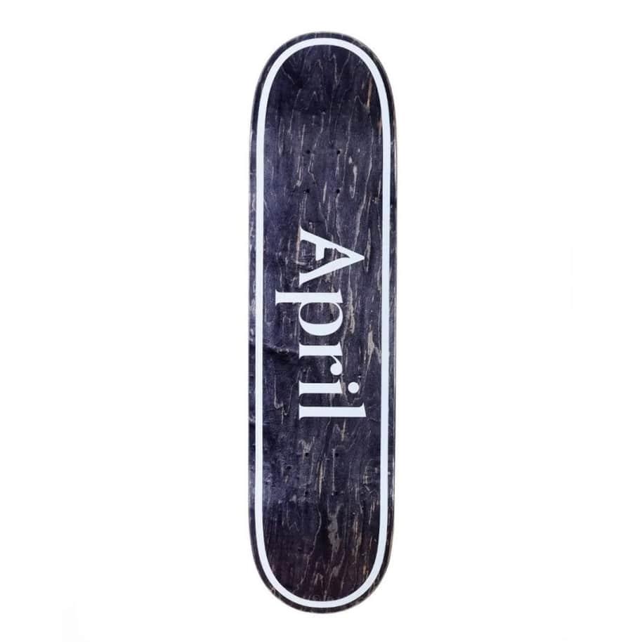 April OG Logo Invert Black Deck - (8.38) | Deck by April Skateboards 1