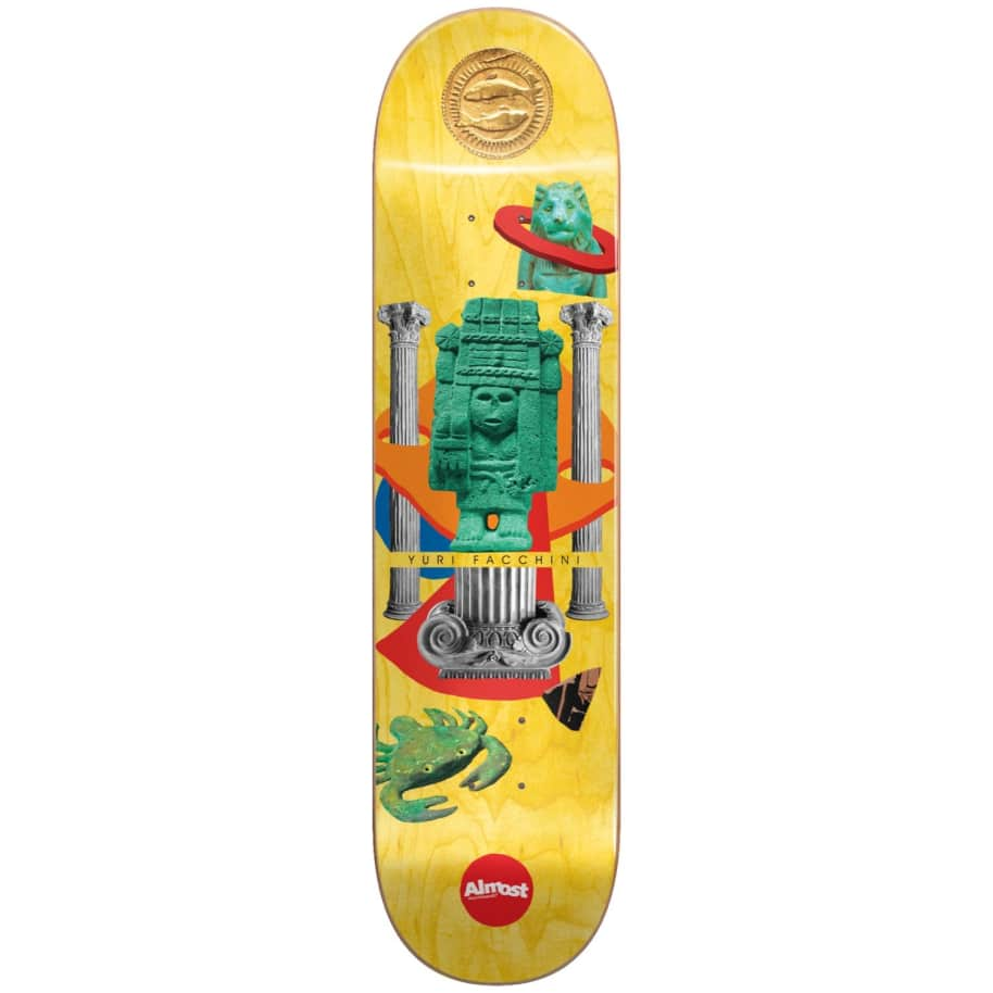 "Almost Skateboards - 8.25"" Relics Yuri Facchini Pro Deck (Yellow) 