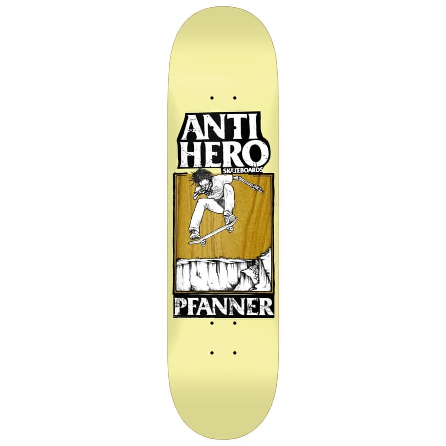 "Anti Hero Skateboards - 8.25"" Chirs Pfanner Lance Skateboard Deck - Yellow / Brown | Deck by Antihero Skateboards 1"