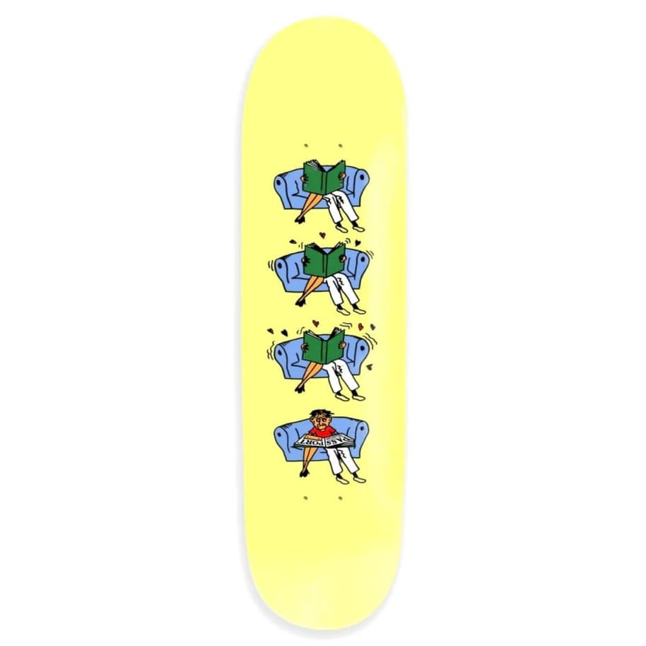 """Pass~Port Skateboards - Pass~Port What U Thought Legs Skateboard Deck Yellow 