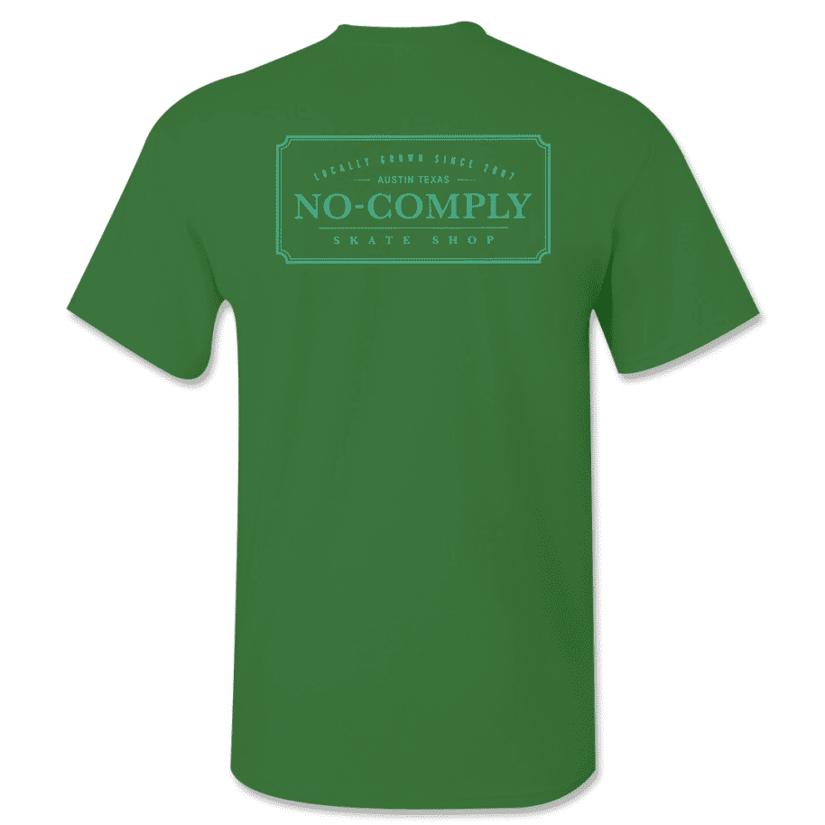 No-Comply Locally Grown Shirt - Forest Green Emerald | T-Shirt by No Comply 1