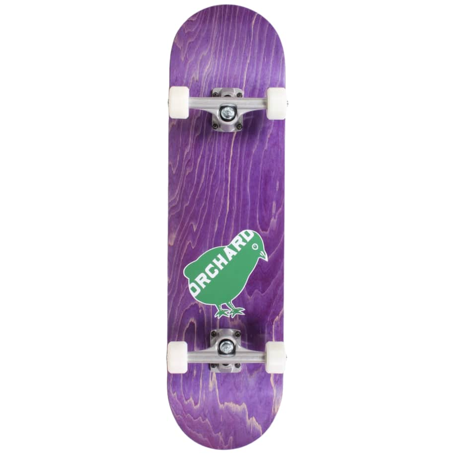 Orchard Green Bird Logo Hybrid Complete 7.8 Purple (With Free Skate Tool) | Complete Skateboard by Orchard 1