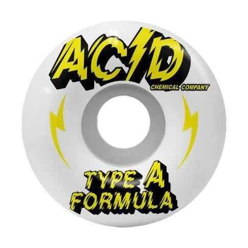 """Acid Type A """"Power"""" White Side Cuts 54mm 99a   Wheels by Acid Chemical Co. 1"""