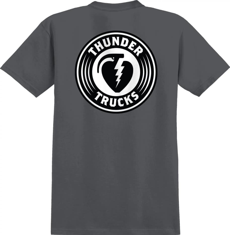 THUNDER Charged Grenade Tee Charcoal | T-Shirt by Thunder Trucks 1