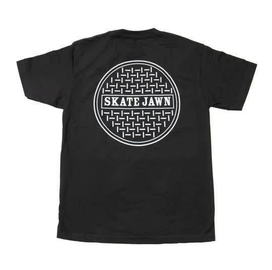 SKATE JAWN SEWER CAP TEE - BLACK | T-Shirt by Skate Jawn 1