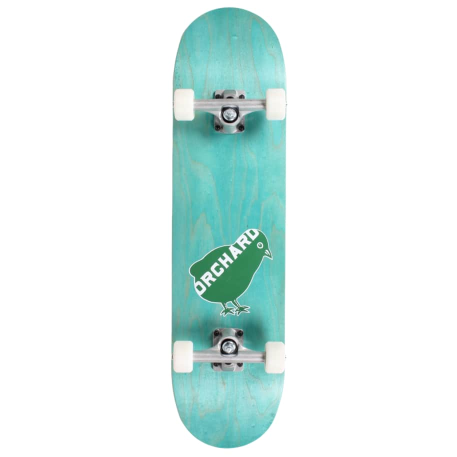 Orchard Green Bird Logo Hybrid Complete 7.8 Cyan (With Free Skate Tool)   Complete Skateboard by Orchard 1