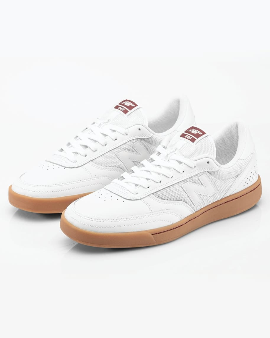 New Balance Numeric 440 Skate Shop Day Shoes - White / Burgundy | Shoes by New Balance 6