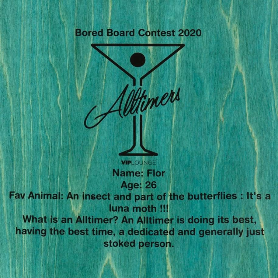 """Alltimers Bored Boards Flor Fairy Deck 8.25"""" 