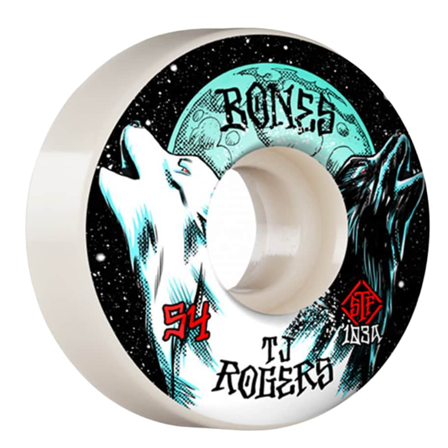 Bones STF Wheels TJ Rogers Howl 54mm V3 Slims 103a | Wheels by BONES 1
