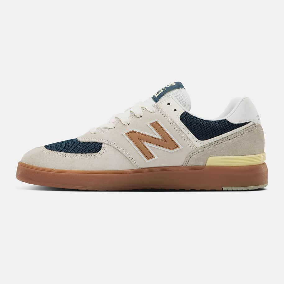 New Balance All Coasts 574 Shoes - White / Gold | Shoes by New Balance 3