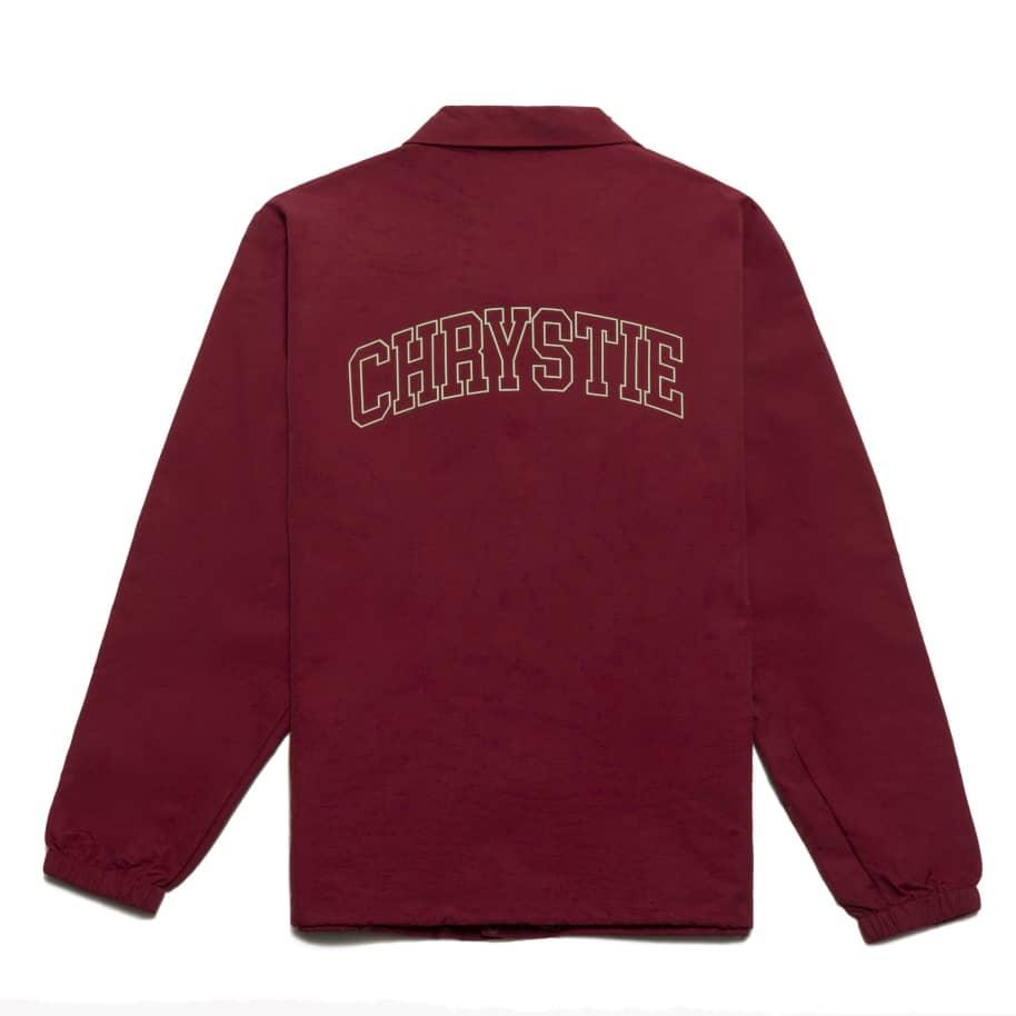 Chrystie NYC - Collegiate Logo Coach Jacket_Burgundy | Coach Jacket by Chrystie NYC 1
