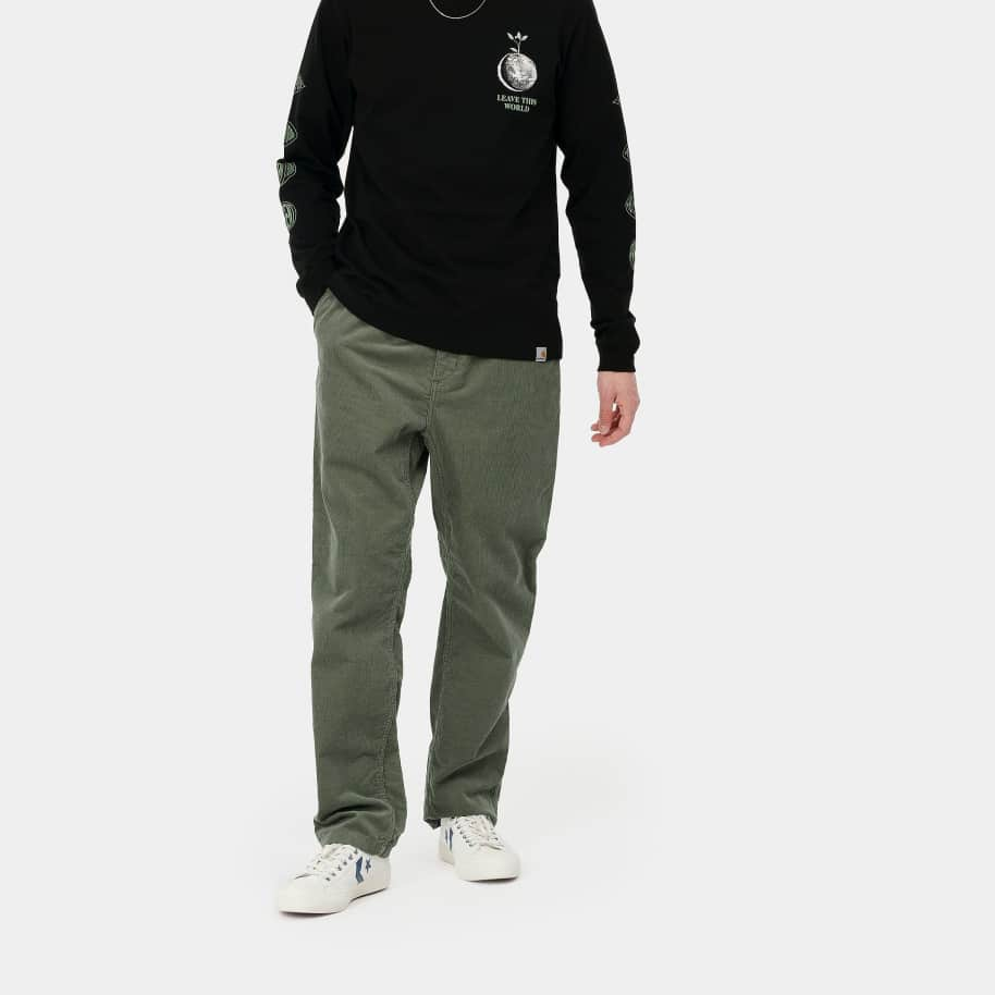 Carhartt WIP Flint Pant - Dollar Green (Rinsed) | Trousers by Carhartt WIP 3
