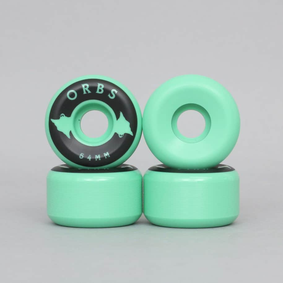 Welcome 54mm 99A Orbs Specters Solids Skateboard Wheels Mint   Wheels by Welcome Skateboards 1