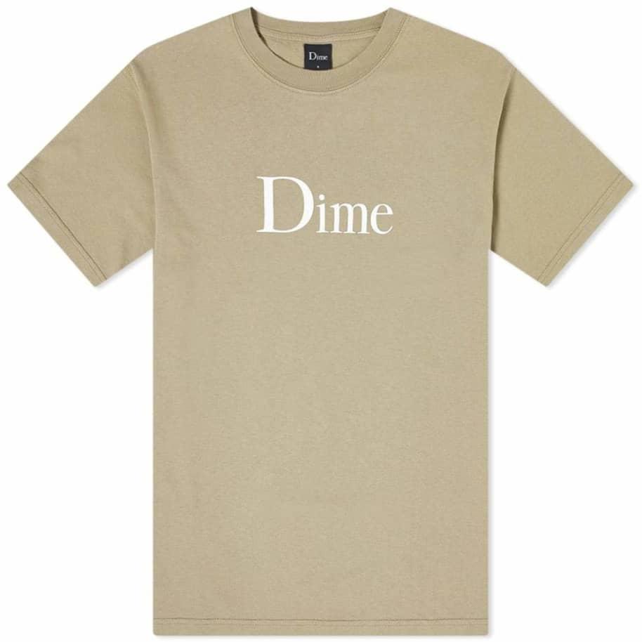 Dime Classic Logo T-Shirt - Beige | T-Shirt by Dime 1