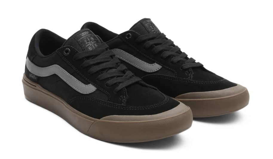 Vans Berle Pro Skate Shoes - Black / Dark Gum | Shoes by Vans 2