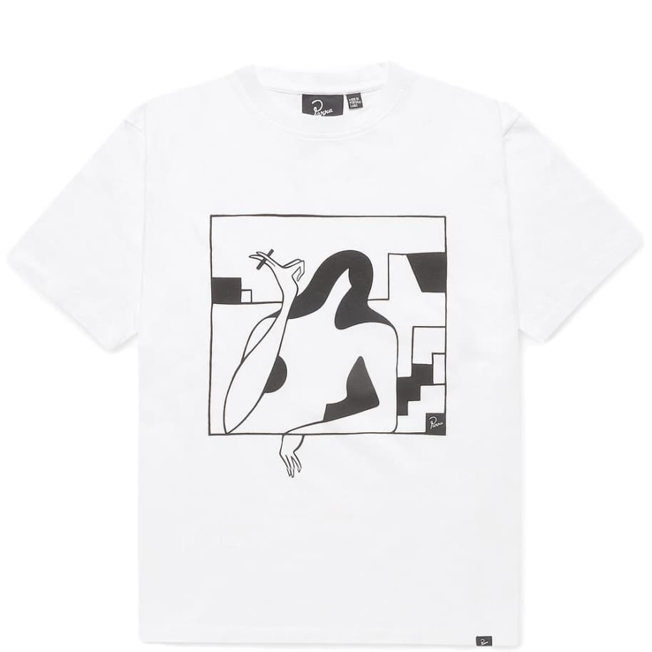 by Parra Lockdown Short Sleeve T-Shirt - White   T-Shirt by by Parra 1