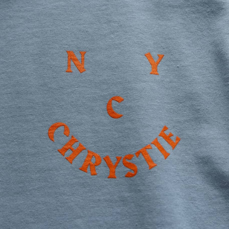 Chrystie NYC Smile Logo Long Sleeve T-Shirt - Stone Blue | Longsleeve by Chrystie NYC 4
