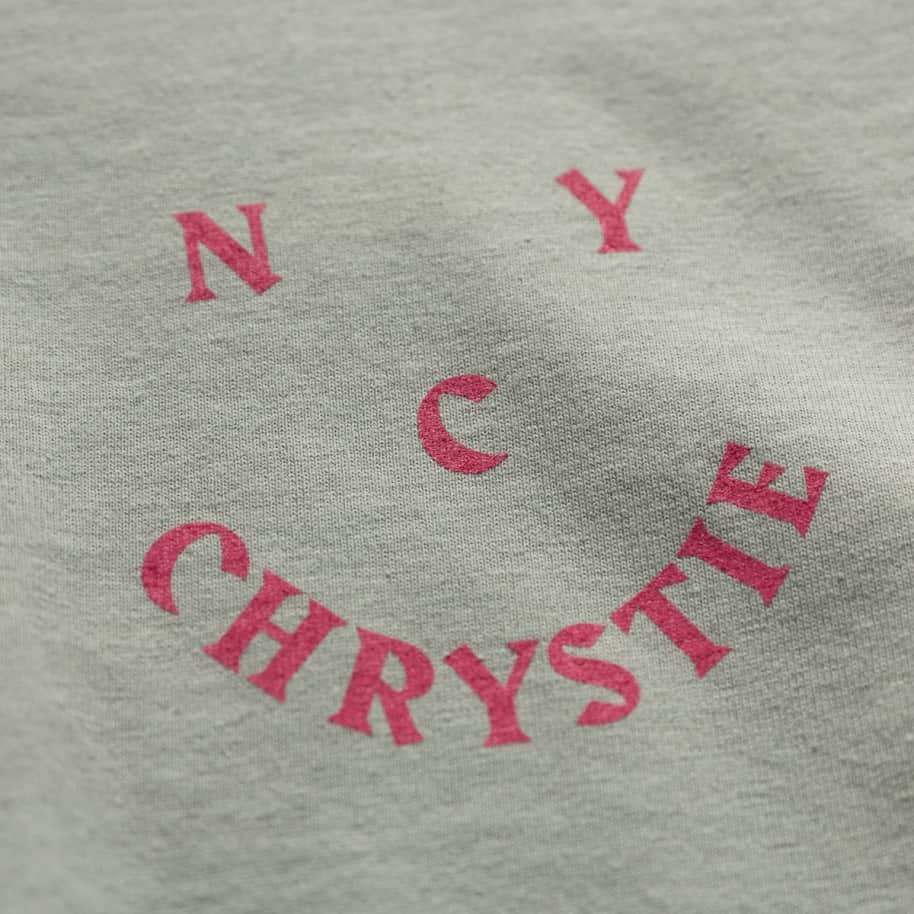Chrystie NYC Smile Logo Long Sleeve T-Shirt - Weed Green | Longsleeve by Chrystie NYC 3