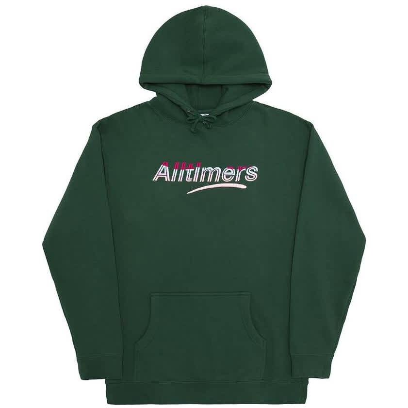 Alltimers Embroidered Wave Estate Hoodie - Dark Green | Hoodie by Alltimers 1