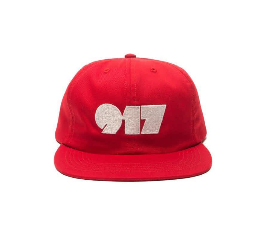Call Me 917 Typography Cap - Red | Baseball Cap by Call Me 917 1