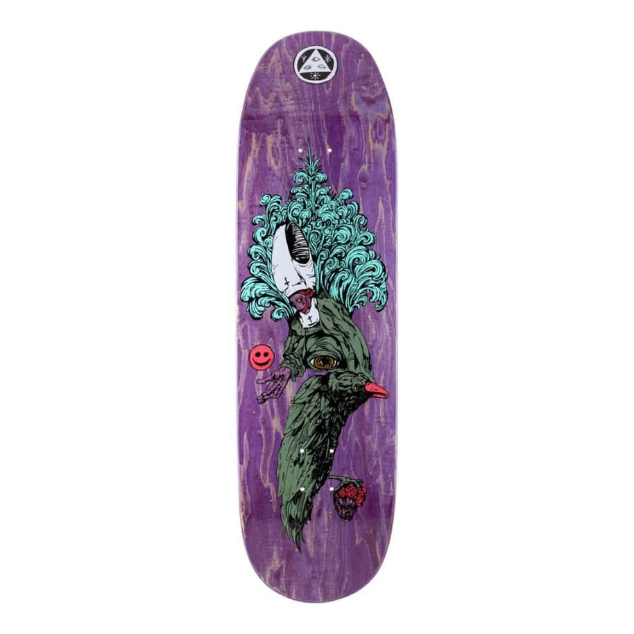 """Welcome Skateboards Tonight I'm Yours on Baculus Deck Purple Stain 9.0"""" 
