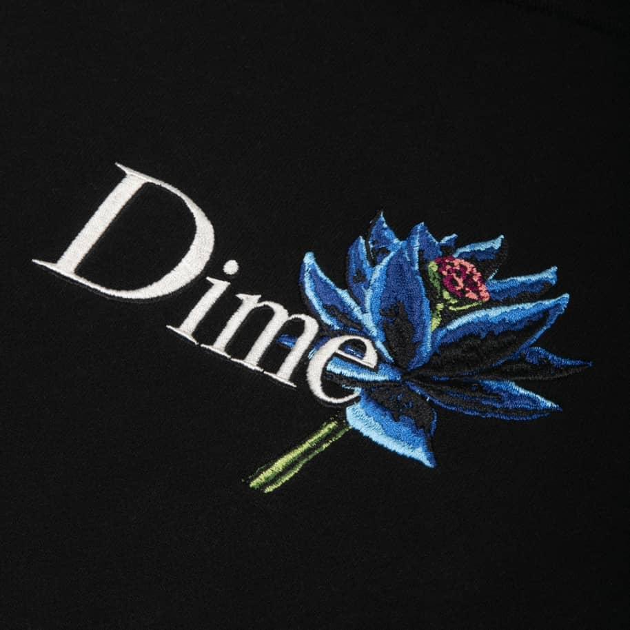 Dime Black Lotus Hoodie - Black   Hoodie by Dime 2