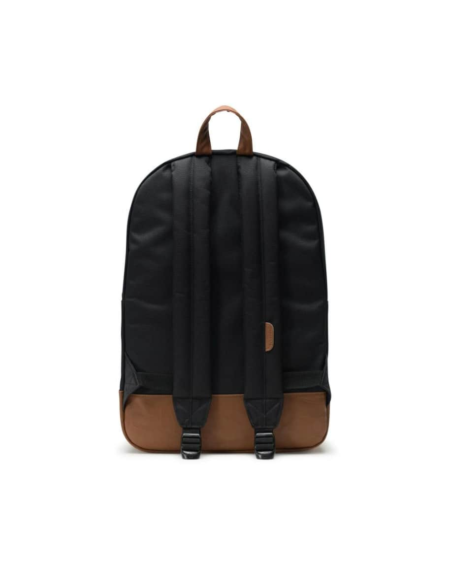 Herschel Heritage Backpack - Black/Tan Synthetic Leather   Backpack by Herschel Supply Co. 2