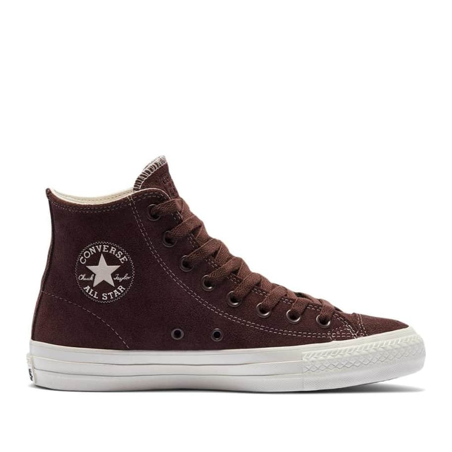 Converse CONS CTAS Pro High Top Suede Shoes - Dark Root / Egret   Shoes by Converse Cons 1
