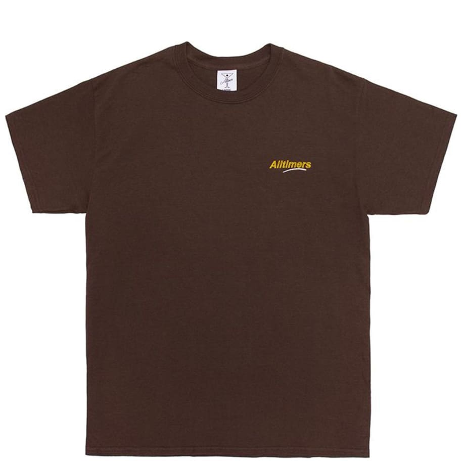 Alltimers Embroidered Estate T-Shirt - Brown | T-Shirt by Alltimers 1