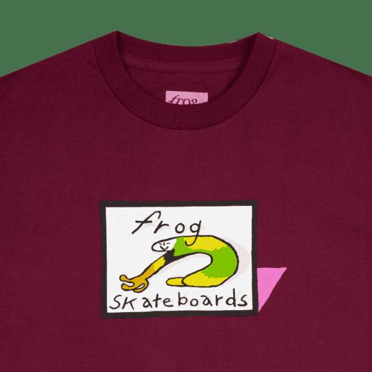 Frog Skateboards Classic Frog Logo T-Shirt - Burgundy | T-Shirt by Frog Skateboards 2