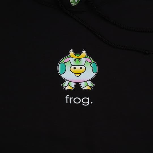 Frog Skateboards Cow Hoodie - Black | Hoodie by Frog Skateboards 2