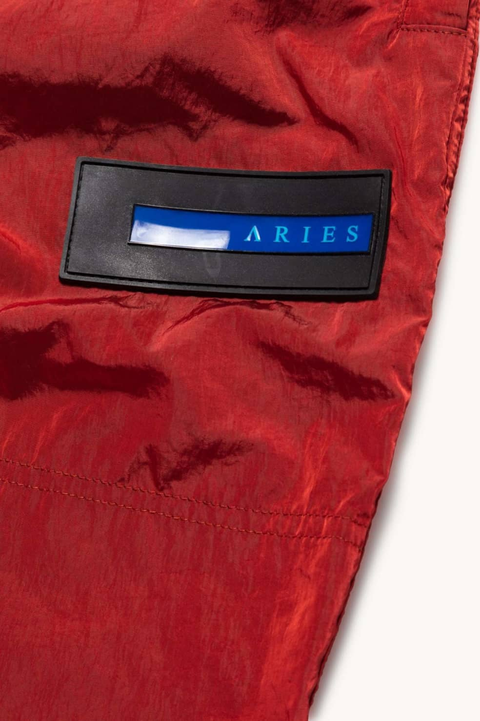 Aries Windcheater Pant - Red | Trousers by Aries 3