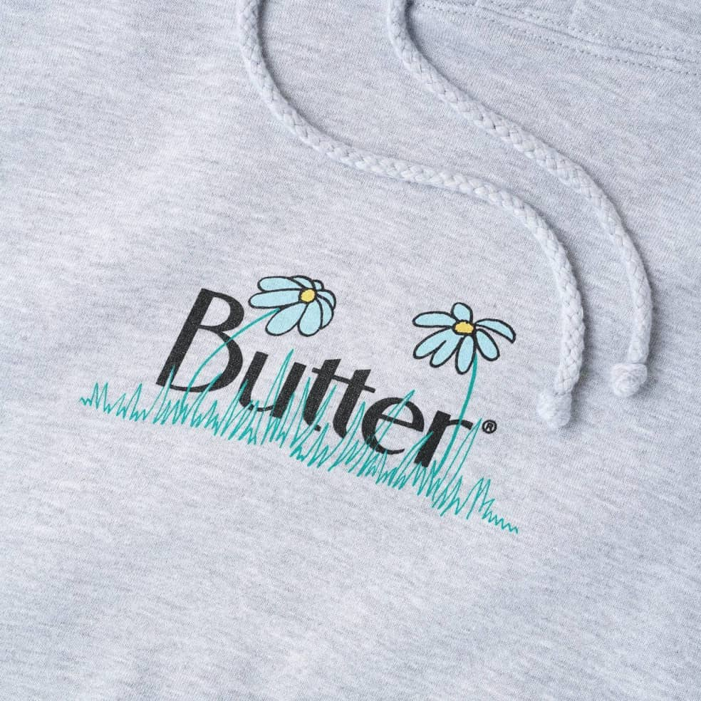 Butter Goods Flowers Hoodie - Heather Grey | Hoodie by Butter Goods 2