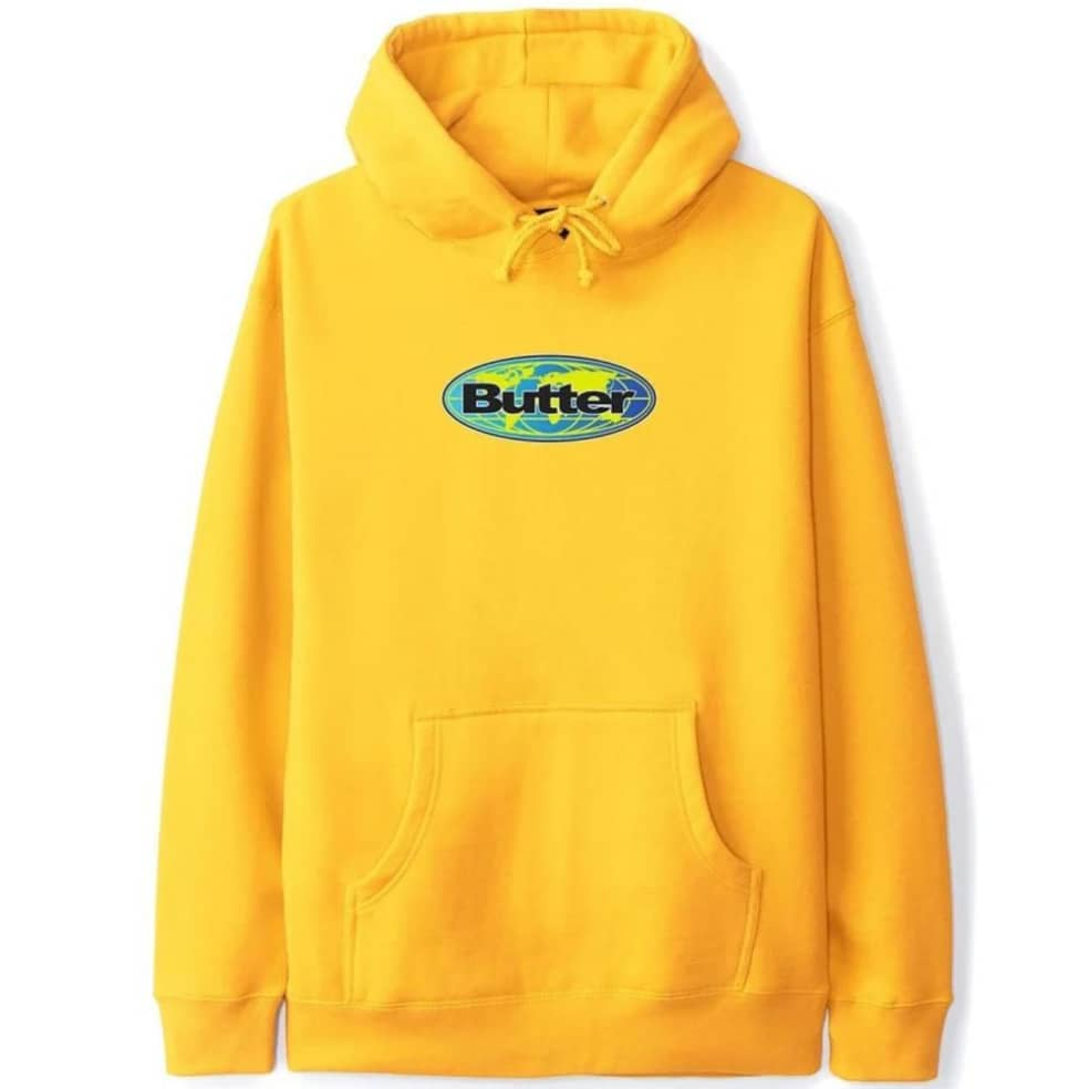 Butter Goods Global Logo Pullover Hoodie - Gold   Hoodie by Butter Goods 1