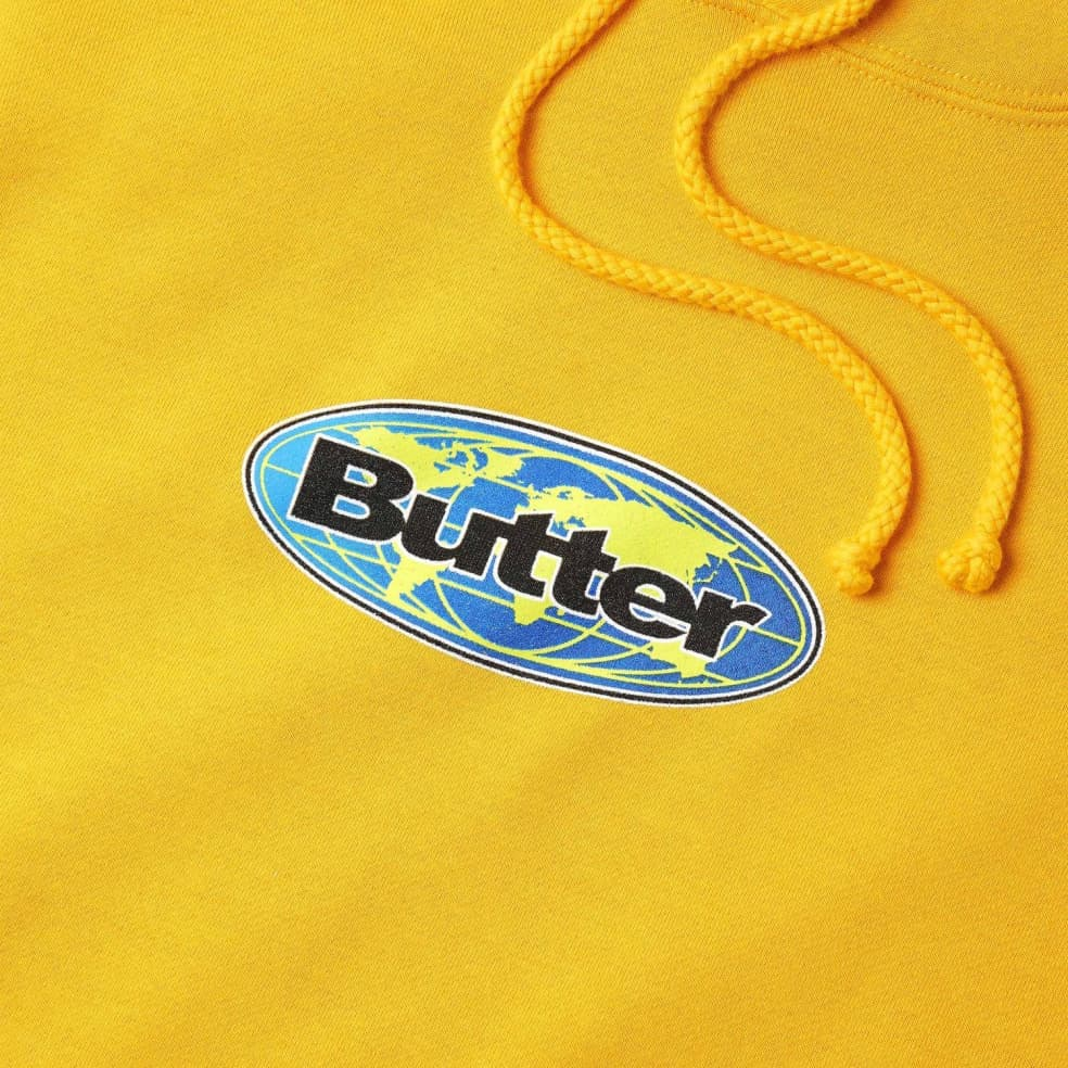 Butter Goods Global Logo Pullover Hoodie - Gold   Hoodie by Butter Goods 2
