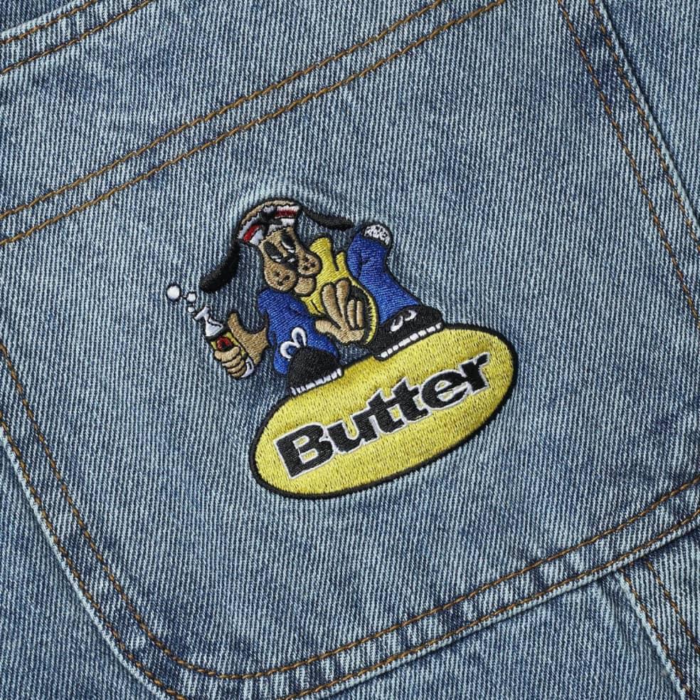 Butter Goods Homeboy Denim Shorts - Washed Light Blue   Shorts by Butter Goods 3