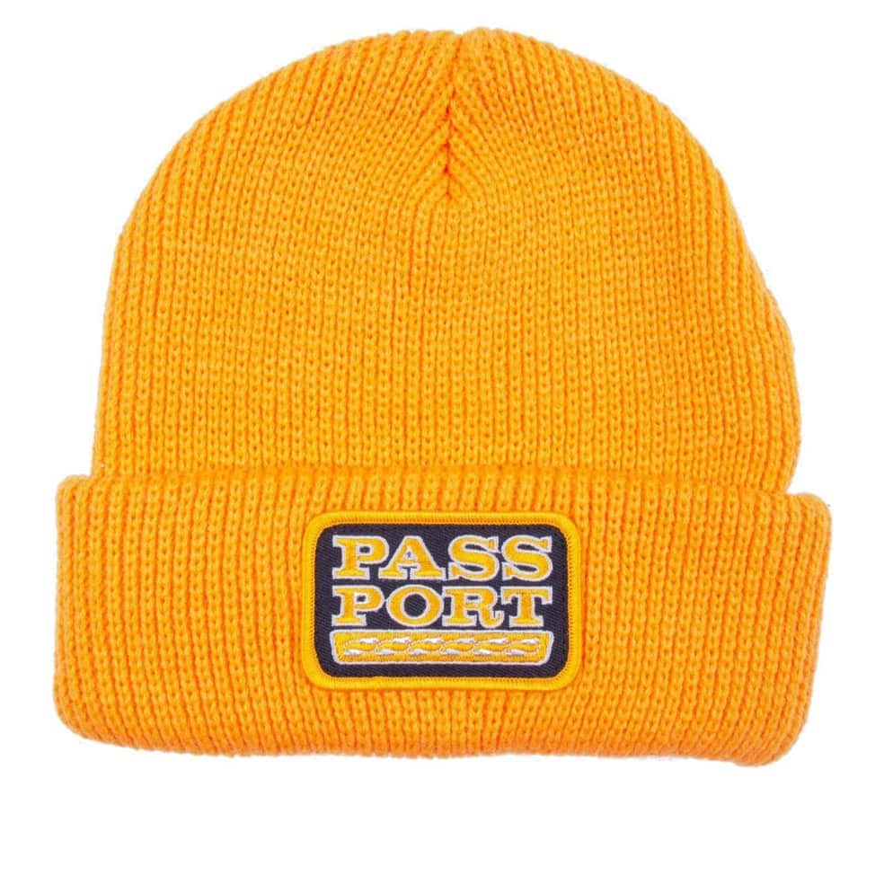 Pass~Port Auto Patch Beanie - Gold | Beanie by Pass~Port Skateboards 1