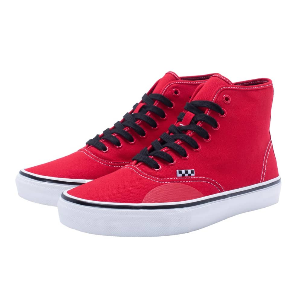 Vans X Hockey Skate Authentic High Andrew Allen Shoes - Red | Shoes by Vans 3