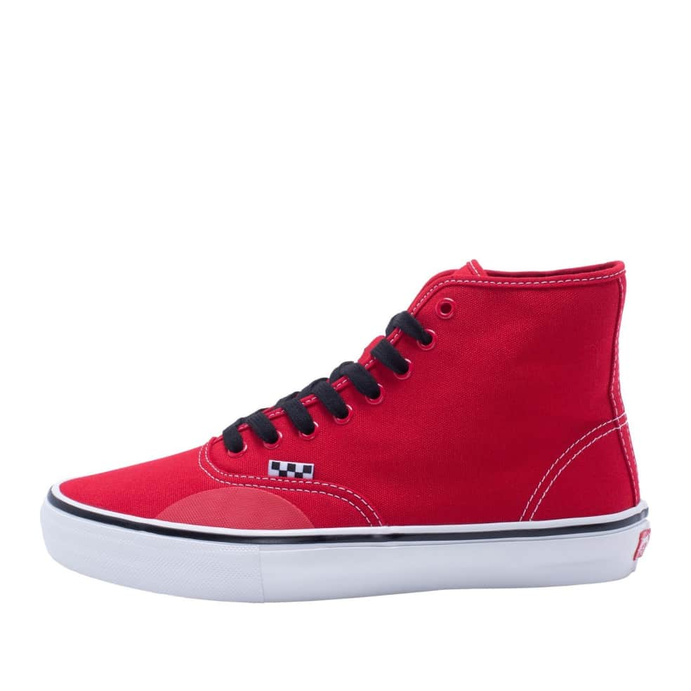 Vans X Hockey Skate Authentic High Andrew Allen Shoes - Red | Shoes by Vans 2