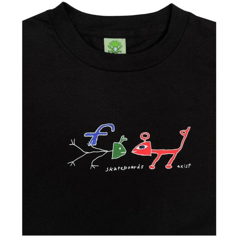 Frog Exists T-Shirt - Black   T-Shirt by Frog Skateboards 2