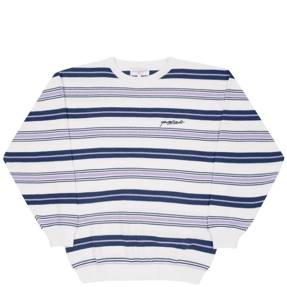 Yardsale Mirage Knit - White / Navy / Lavender | Sweatshirt by Yardsale 1